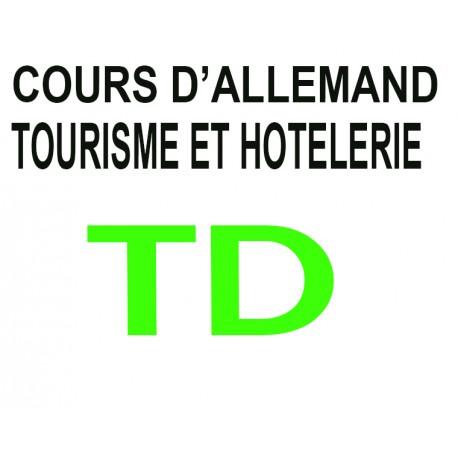 Cours d'Allemand en Tourisme et Hôtellerie A1 – A2 – B1